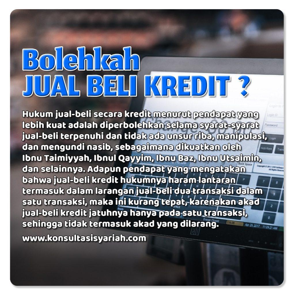 Bolehkah Jual Beli Kredit